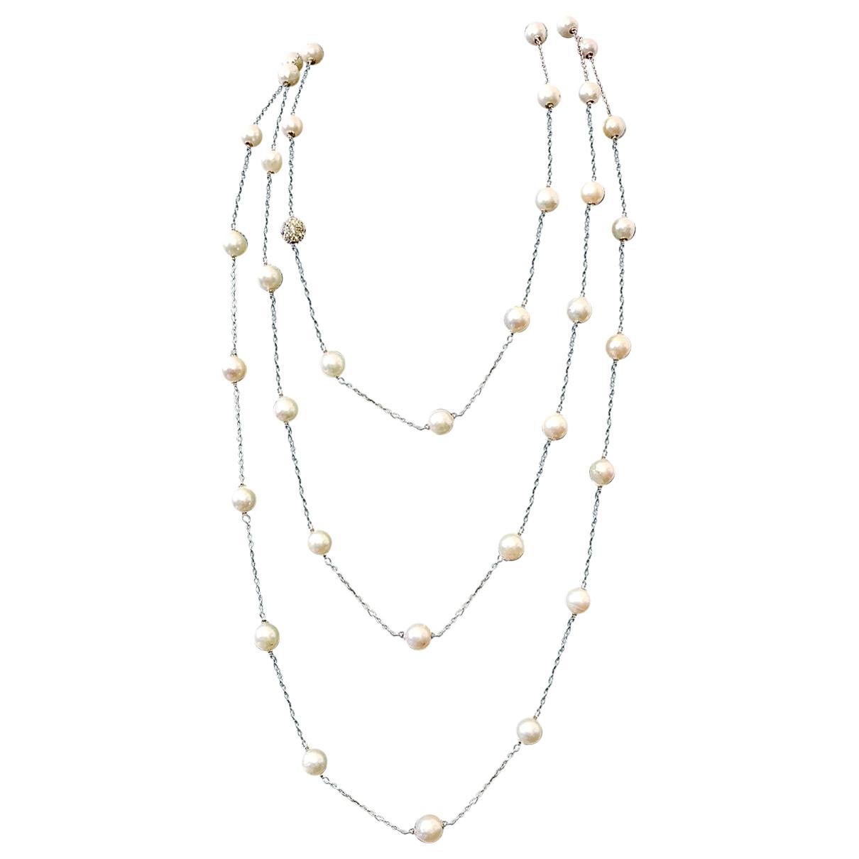 Collar largo Art Deco de Perlas Non Signe / Unsigned