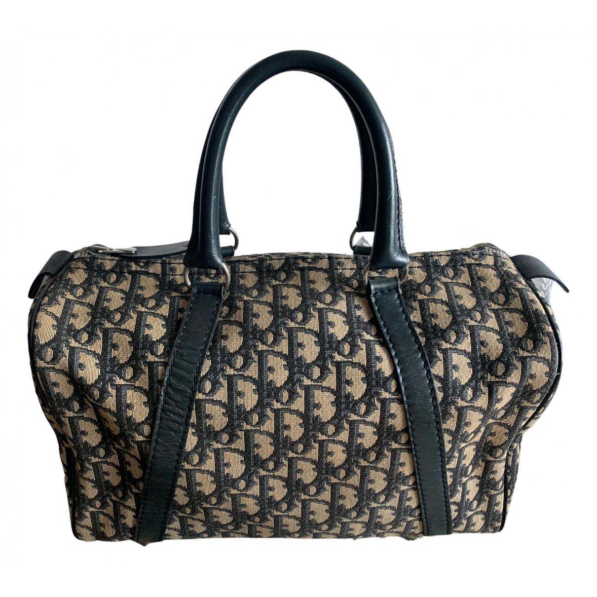 Dior Speedy Handtasche in  Marine Leinen
