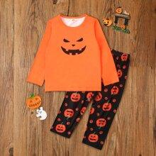 Homewear de niño pequeño Halloween Casual