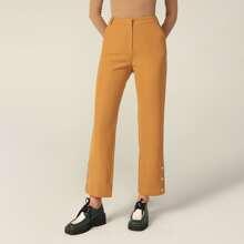 PREMIUM Hose mit Knopfen und seitlichen schraegen Taschen