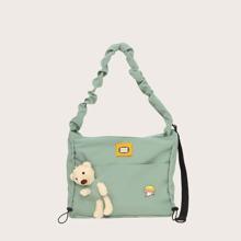 Girls Bear Decor Shoulder Bag