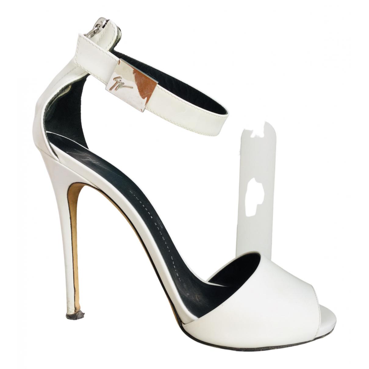Giuseppe Zanotti - Sandales   pour femme en cuir - blanc