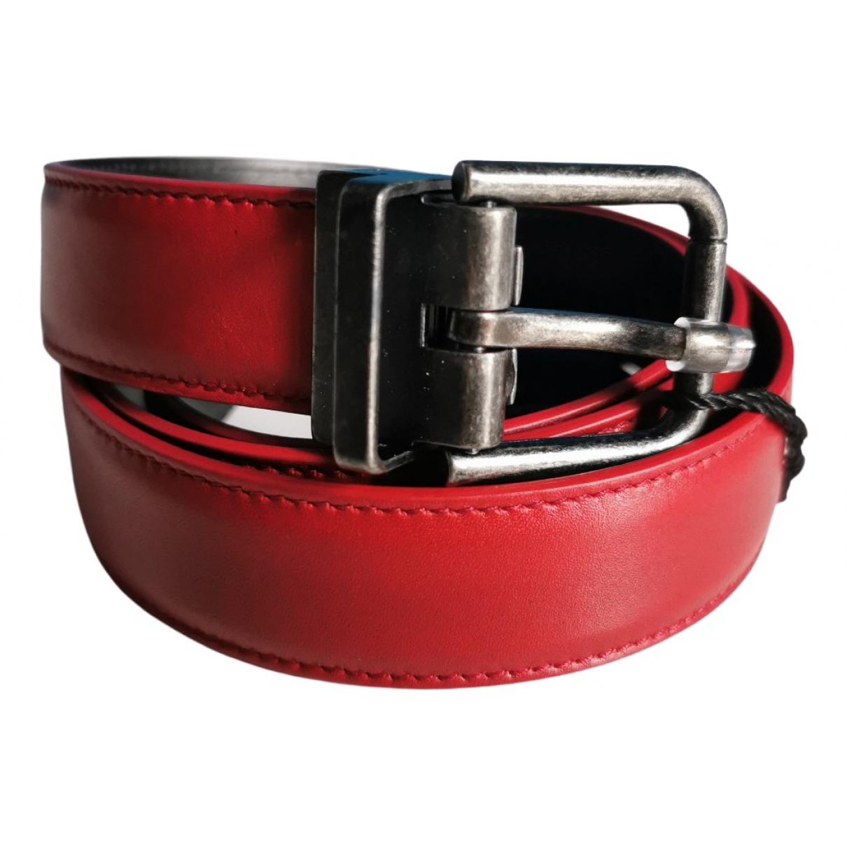 Dolce & Gabbana - Ceinture   pour femme en cuir - rouge