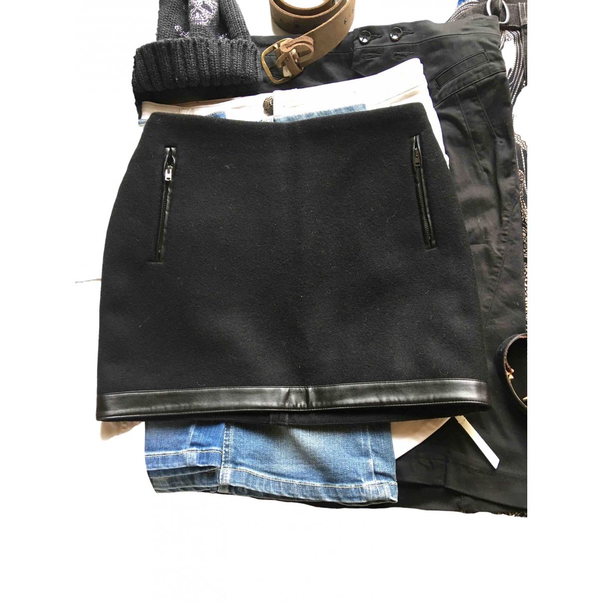 Maje \N Black Wool skirt for Women 36 FR