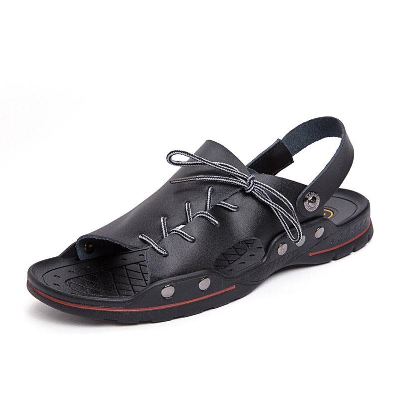 Ericdress PU Slip-On Simple Men's Sandals