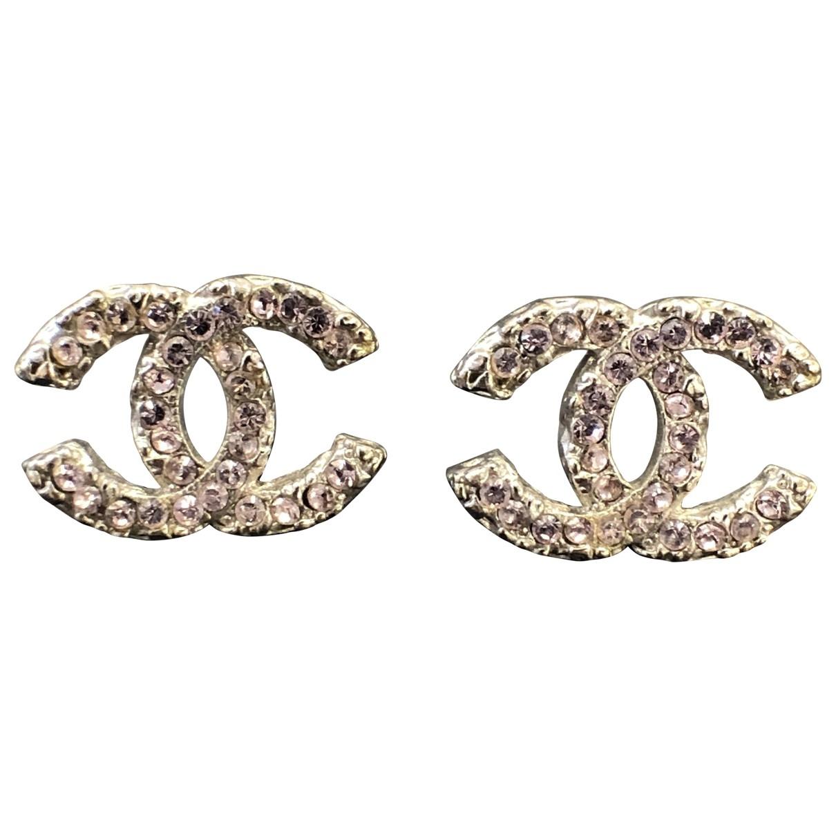 Chanel - Boucles doreilles CC pour femme en cristal