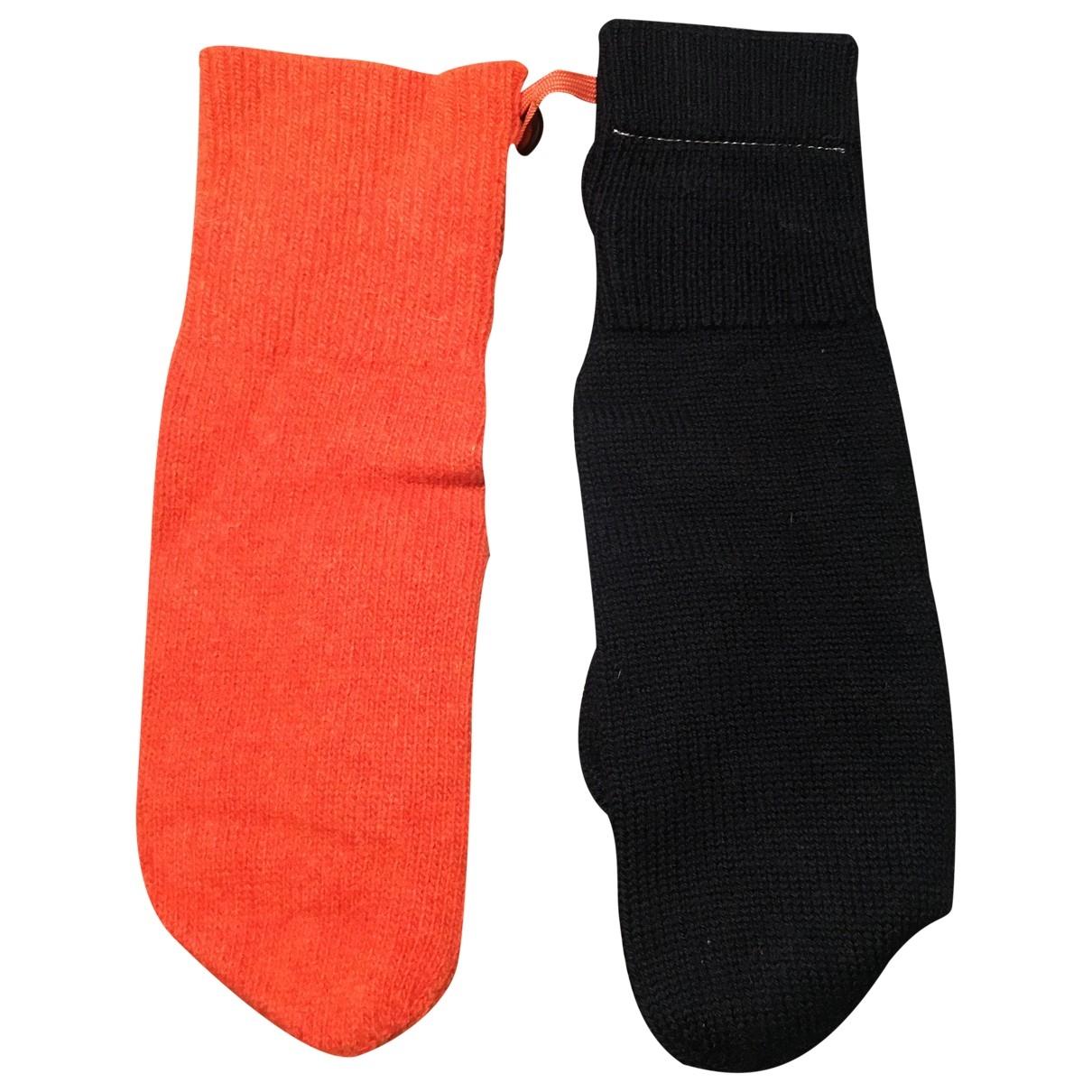 Mm6 \N Handschuhe in  Orange Wolle