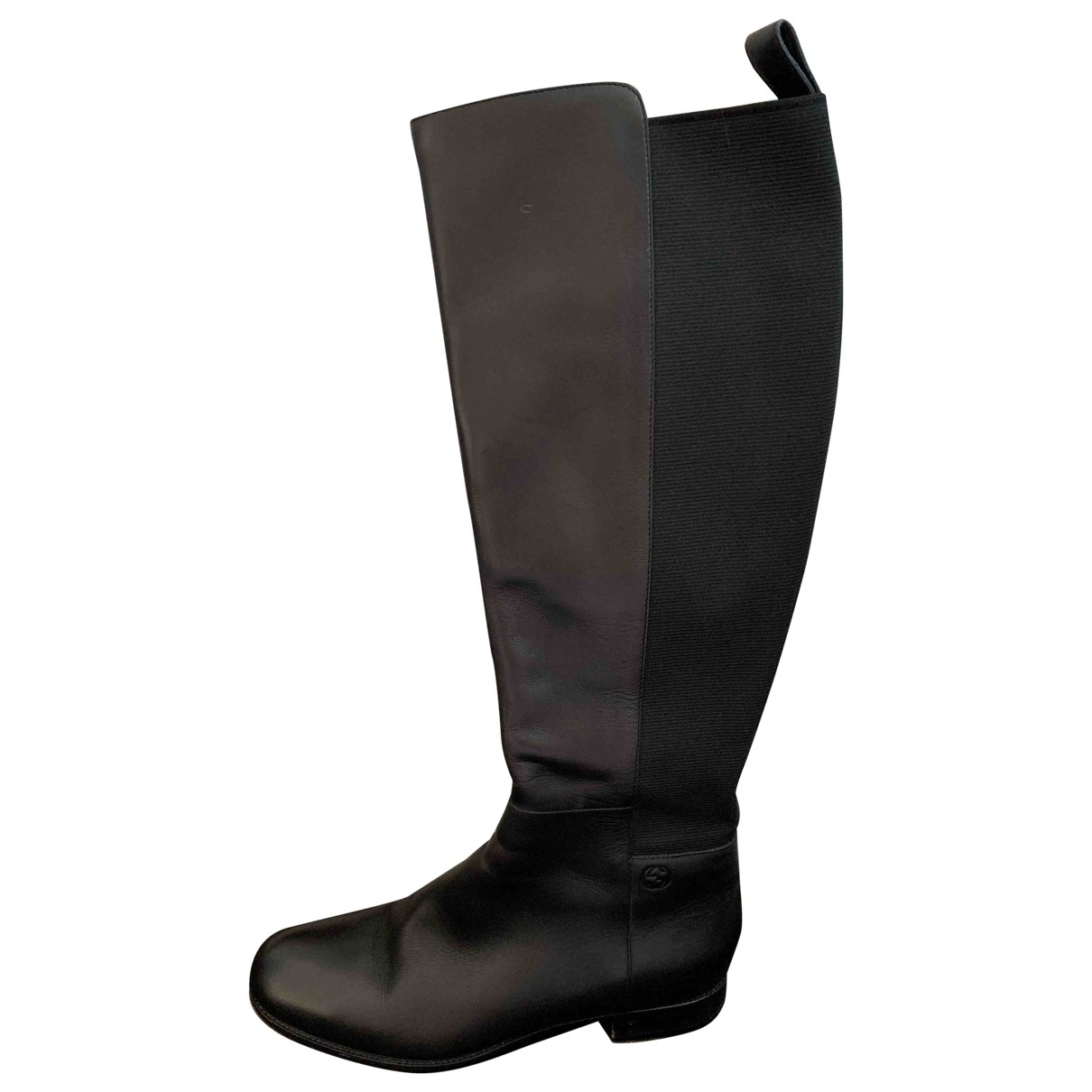 Gucci \N Black Leather Boots for Women 37 EU