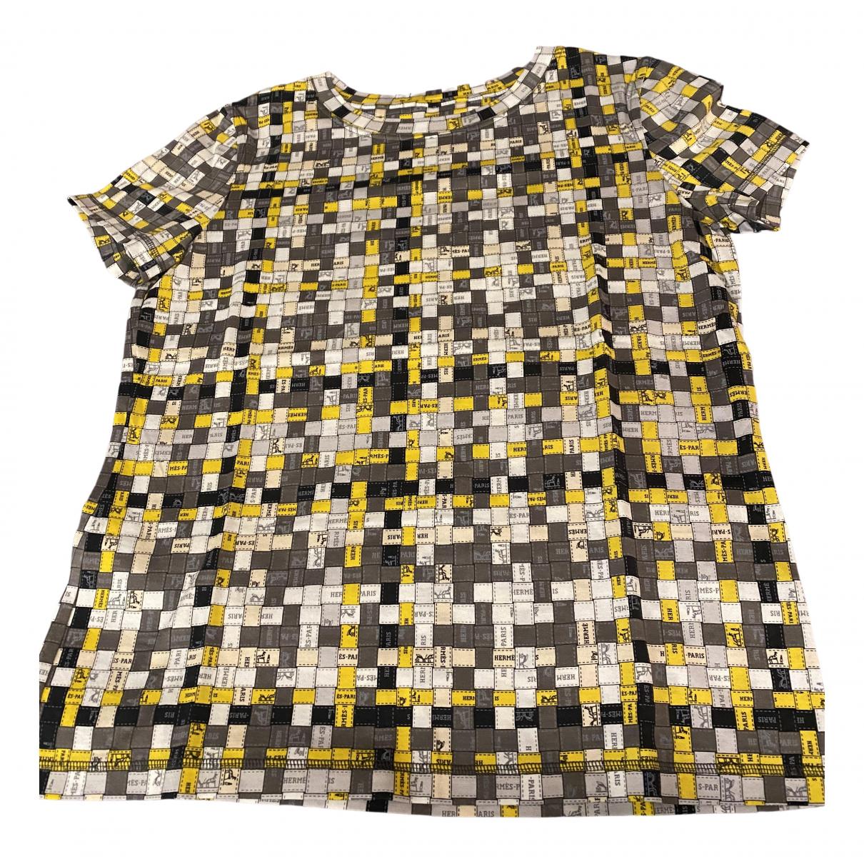 Hermes - Top   pour femme en coton - ecru