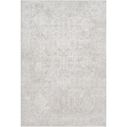 Aisha AIS-2306 10 x 14 Rectangle Traditional Rug in Light Grey