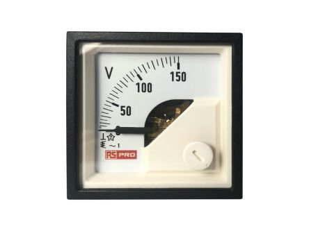 RS PRO Analogue Panel Ammeter AC, 48mm x 48mm, 1 % Moving Iron