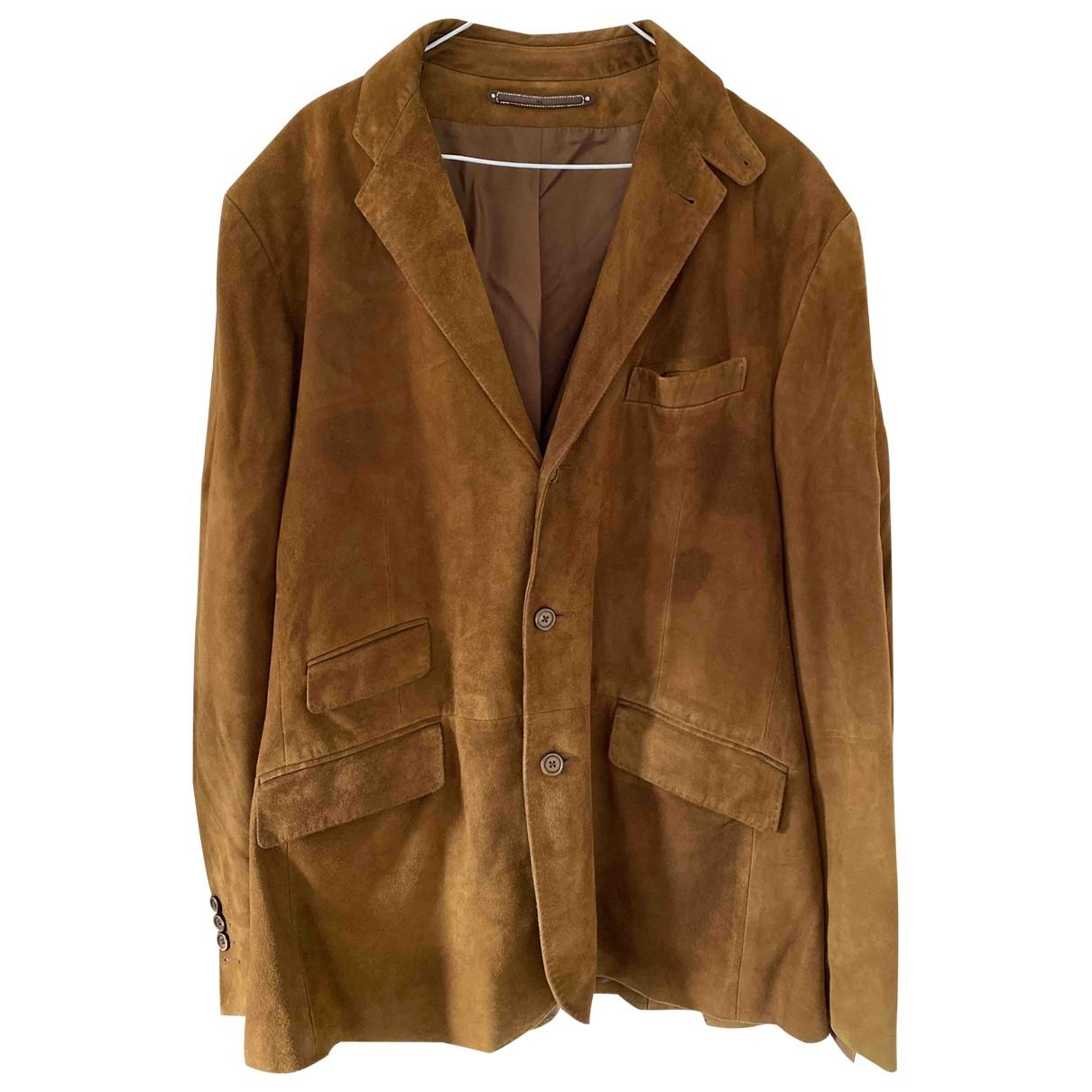 Polo Ralph Lauren - Vestes.Blousons   pour homme en suede - camel