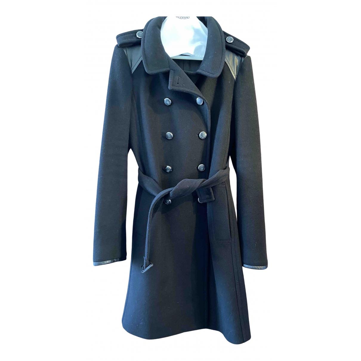 Pinko - Manteau   pour femme en laine - noir