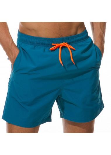 Quick Dry Mesh Liner Drawstring Waist Bermuda Men's Swim Trunks - 3XL