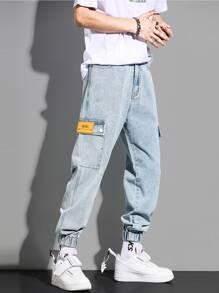 Guys Flap Pocket Cargo Jeans