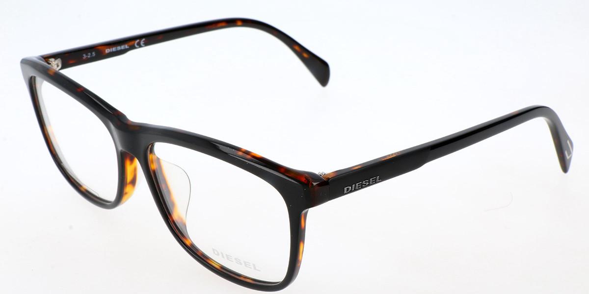 Diesel DL5183F Asian Fit 005 Men's Glasses Black Size 57 - Free Lenses - HSA/FSA Insurance - Blue Light Block Available