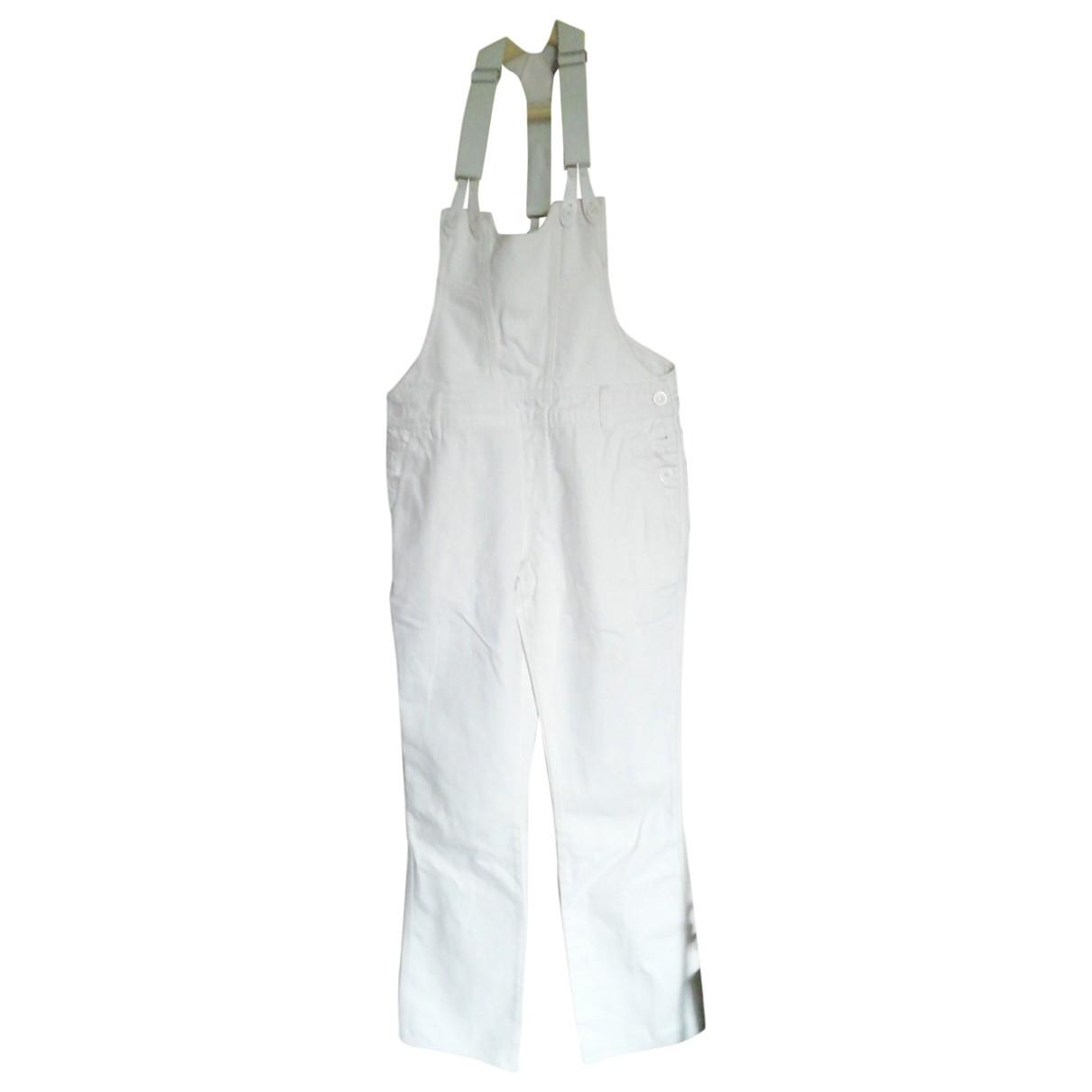 Claudie Pierlot \N White Cotton Trousers for Women 36 FR