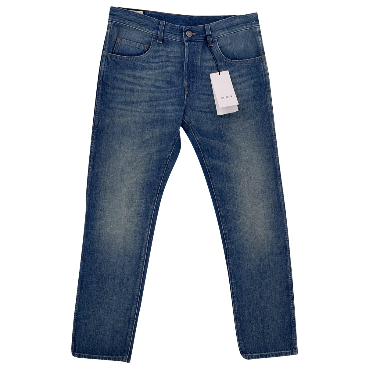 Gucci \N Blue Cotton Jeans for Men 32 US