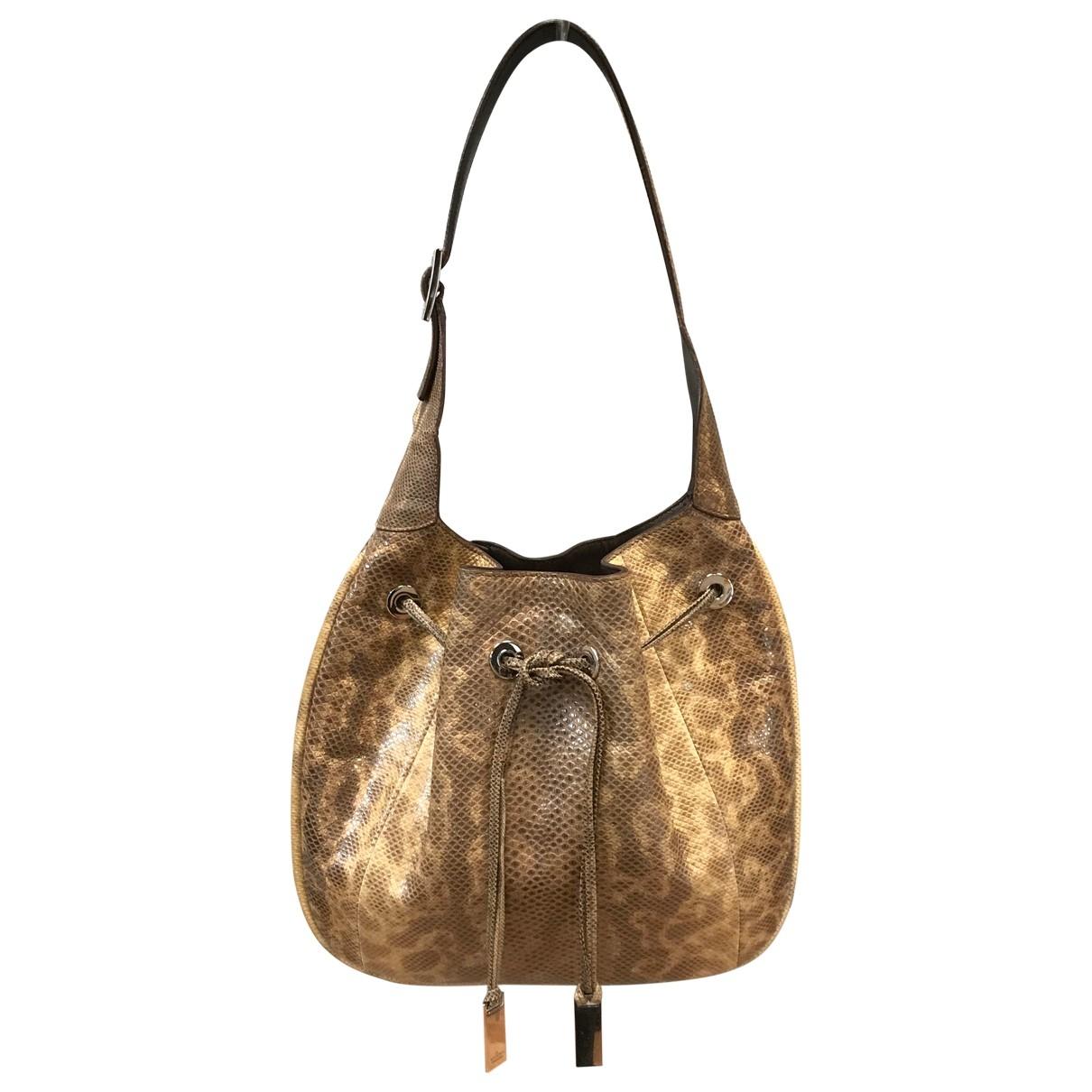 Gucci \N Beige Exotic leathers handbag for Women \N