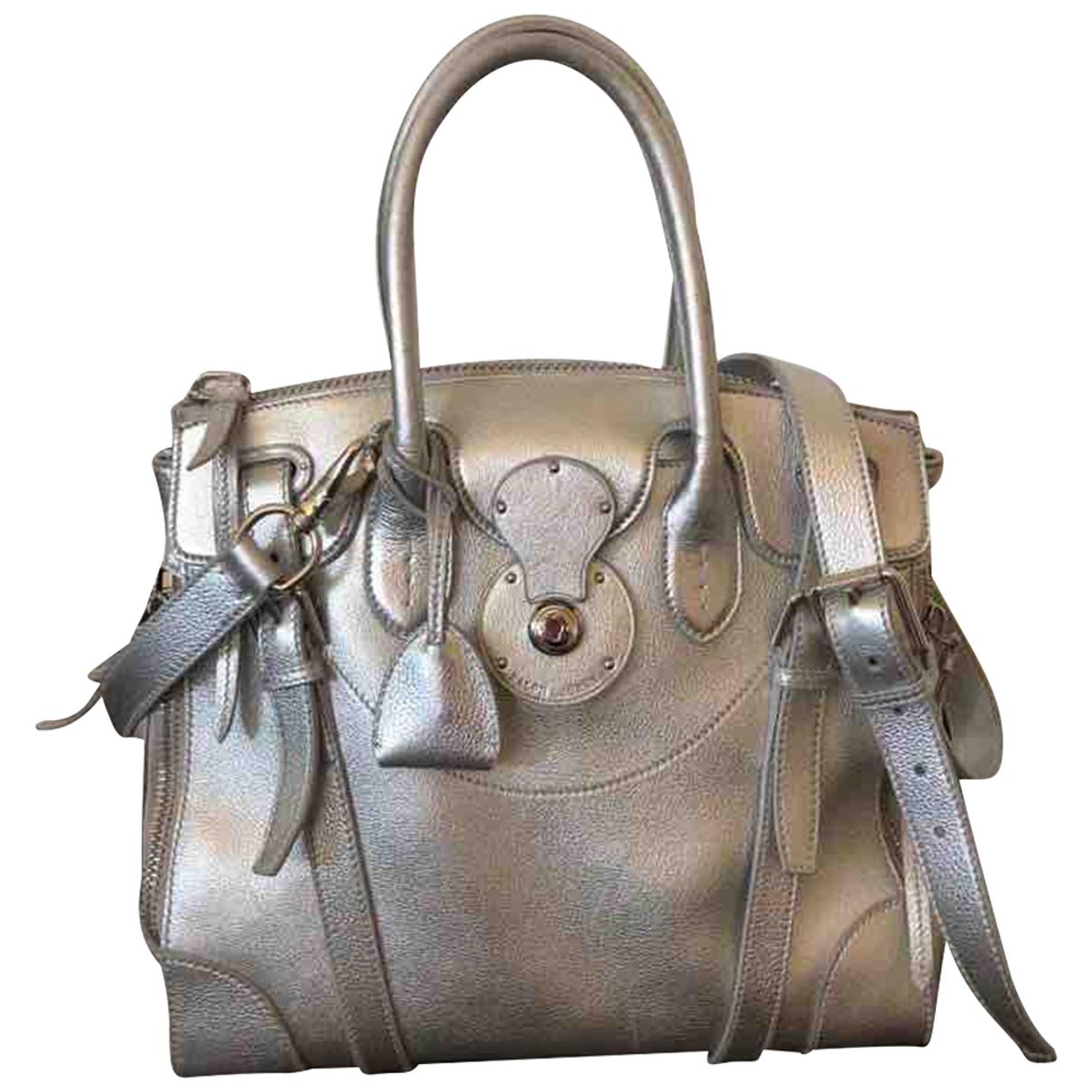 Ralph Lauren Ricky Handtasche in  Silber Leder