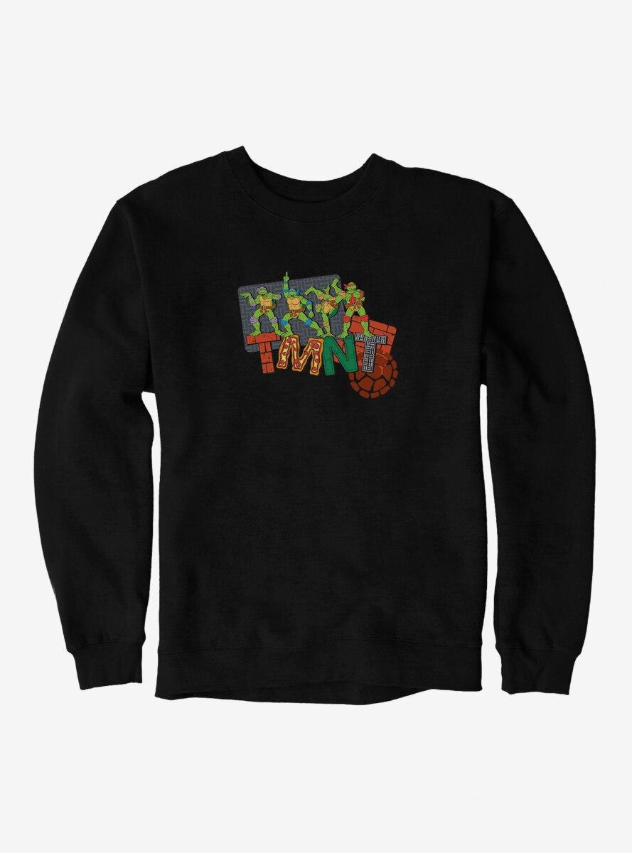 Teenage Mutant Ninja Turtles Patterned Logo Letters Sweatshirt
