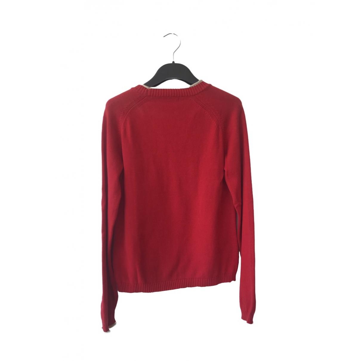 Burberry - Pull   pour femme en coton - rouge