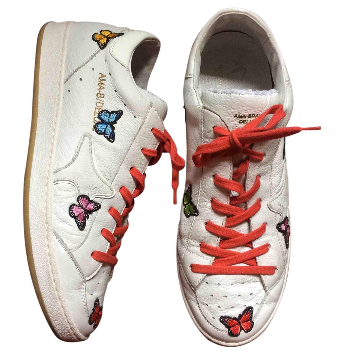 Ama Brand \N Sneakers in  Weiss Leder