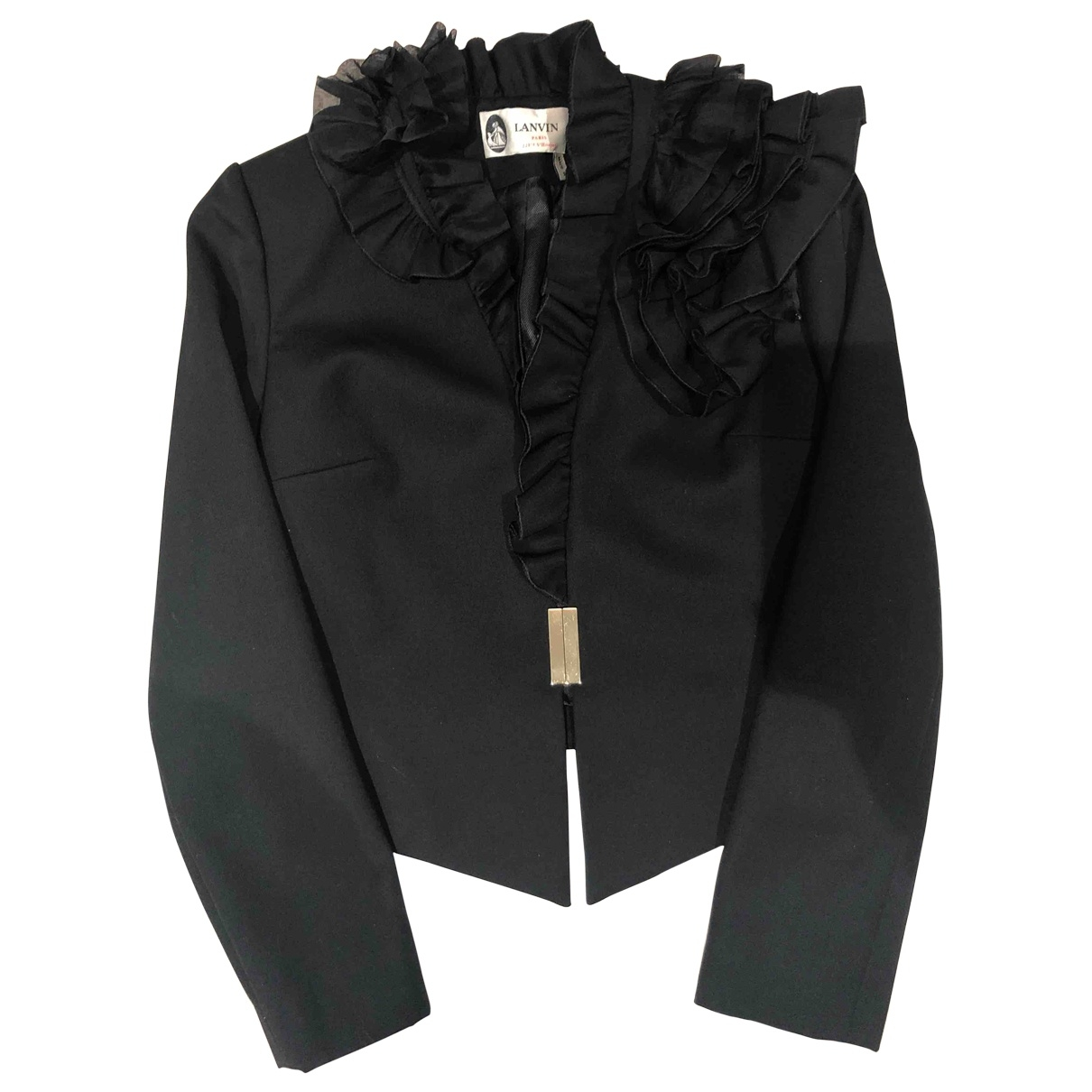 Lanvin \N Jacke in  Schwarz Wolle