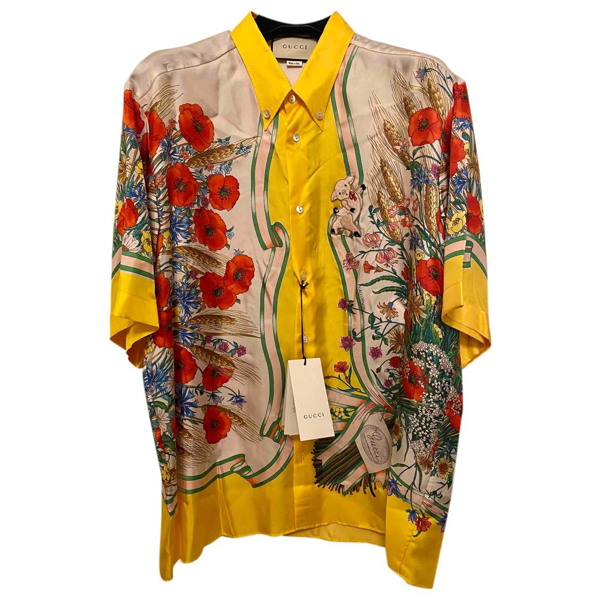 Gucci - Chemises   pour homme en soie - jaune