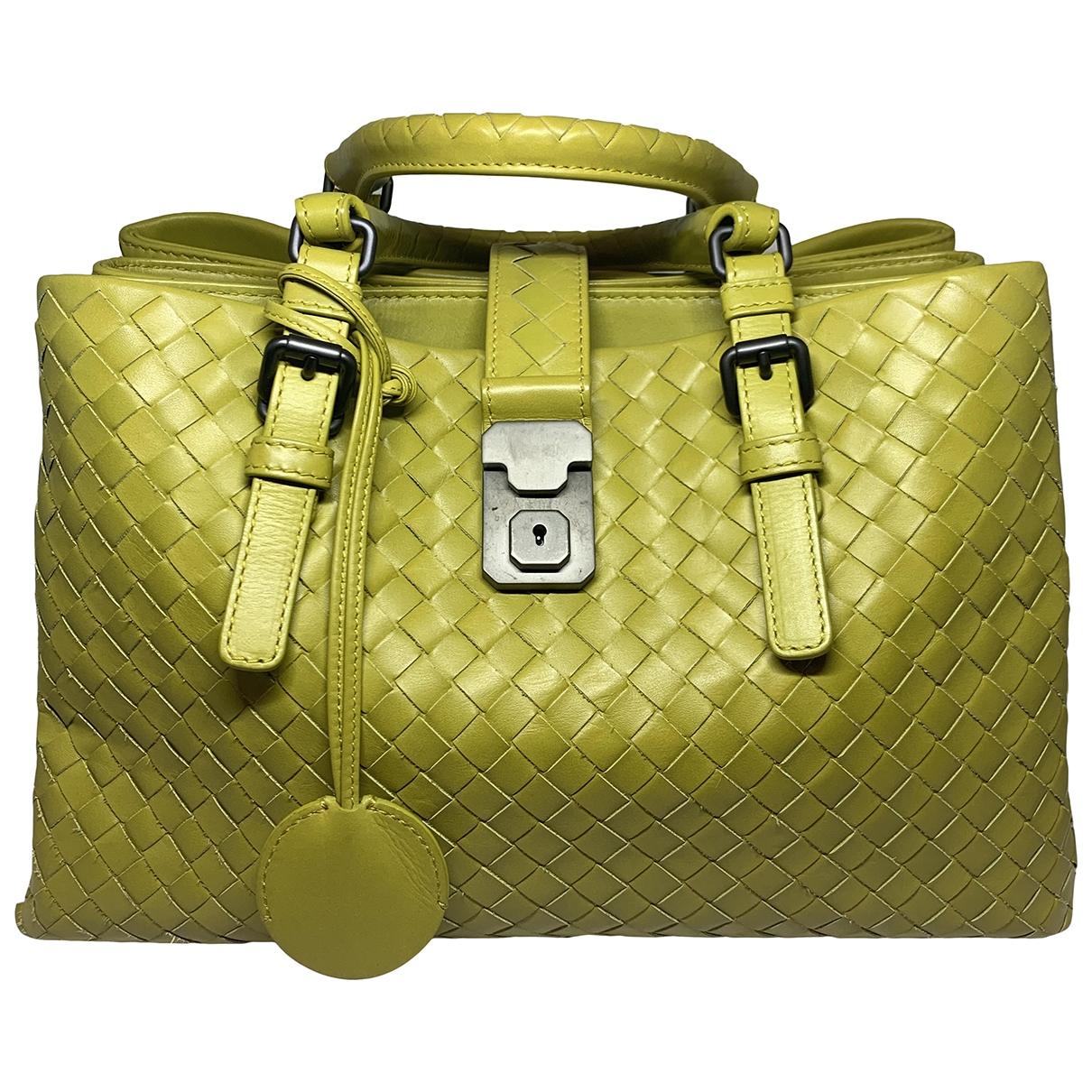 Bottega Veneta Roma Handtasche in  Gelb Leder