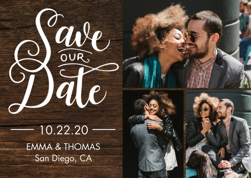 Save the Date 5x7 Cards, Premium Cardstock 120lb with Rounded Corners, Card & Stationery -Save our Date Romantic by Tumbalina