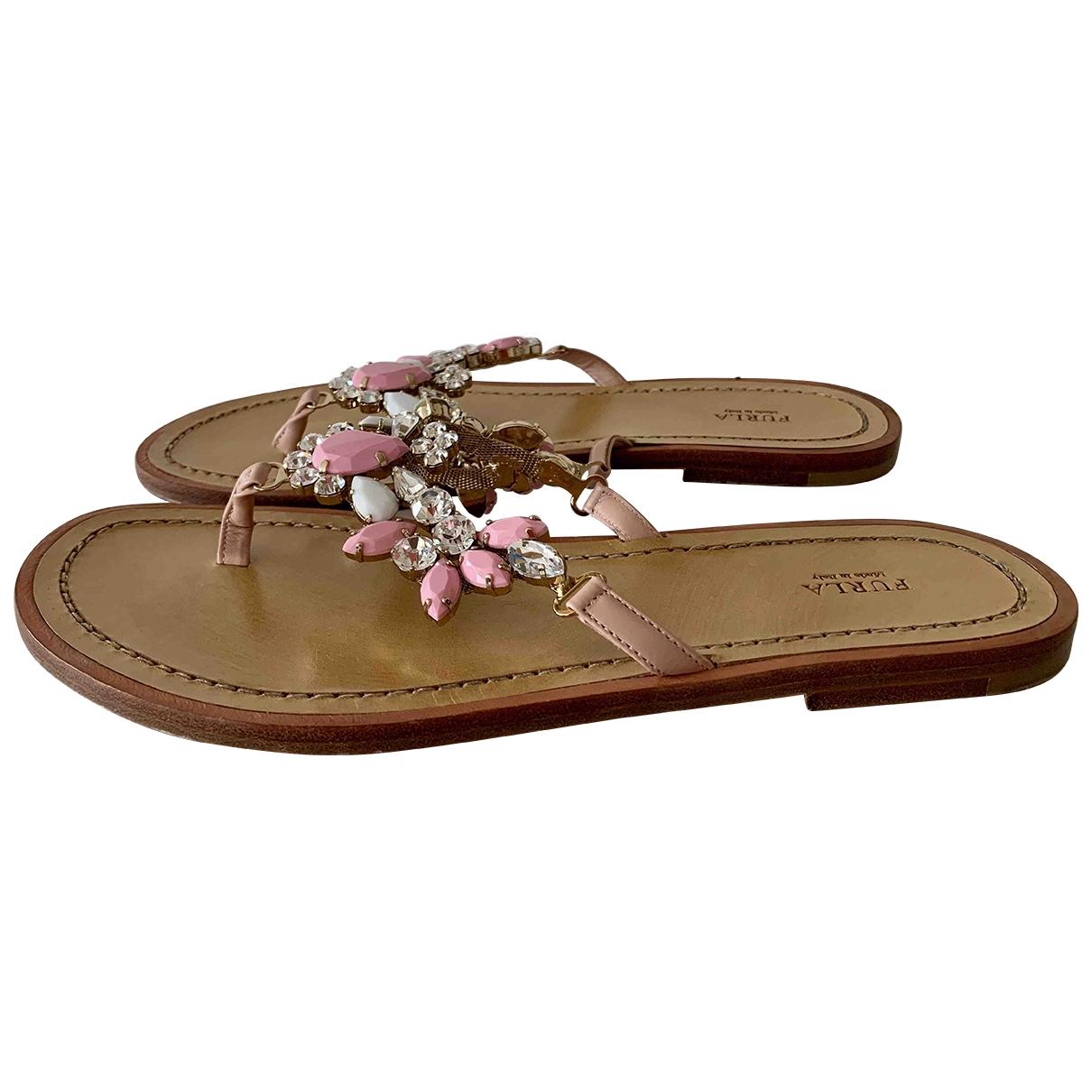 Furla - Sandales   pour femme en cuir - multicolore
