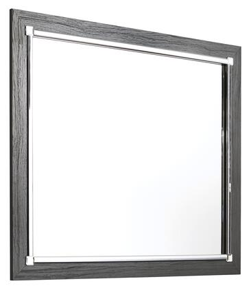Lodanna Collection B21436 Bedroom Mirror with Engineered Wood Construction and Clear Reflection Glass  in