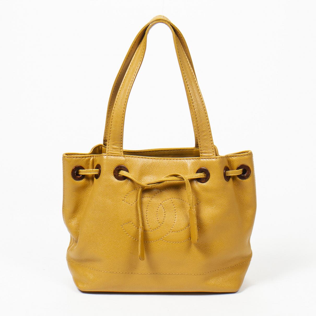 Chanel \N Yellow Leather handbag for Women \N