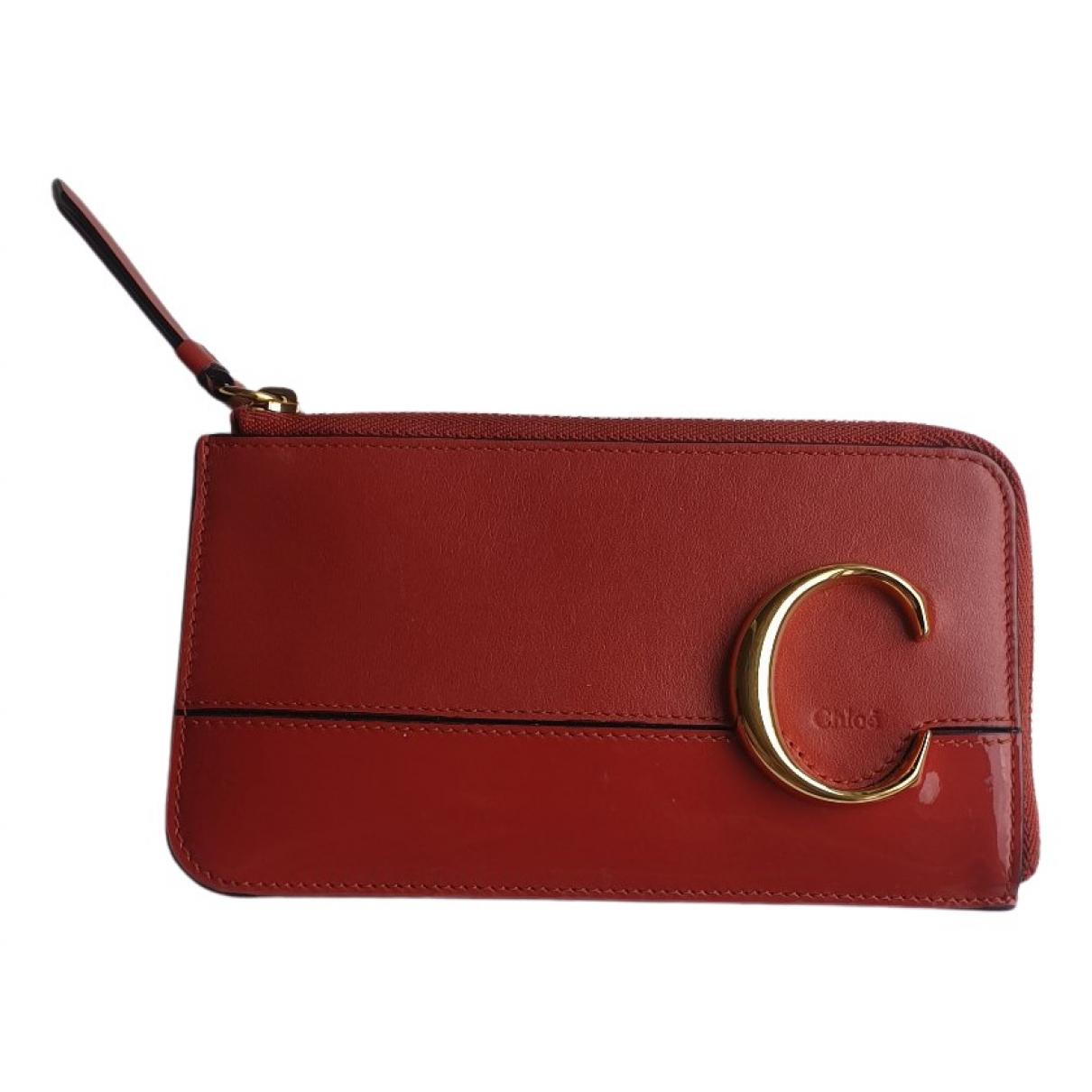 Chloe - Petite maroquinerie   pour femme en cuir - rouge
