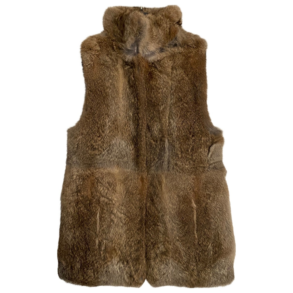 Non Signé / Unsigned \N Beige Rabbit jacket for Women 40 IT