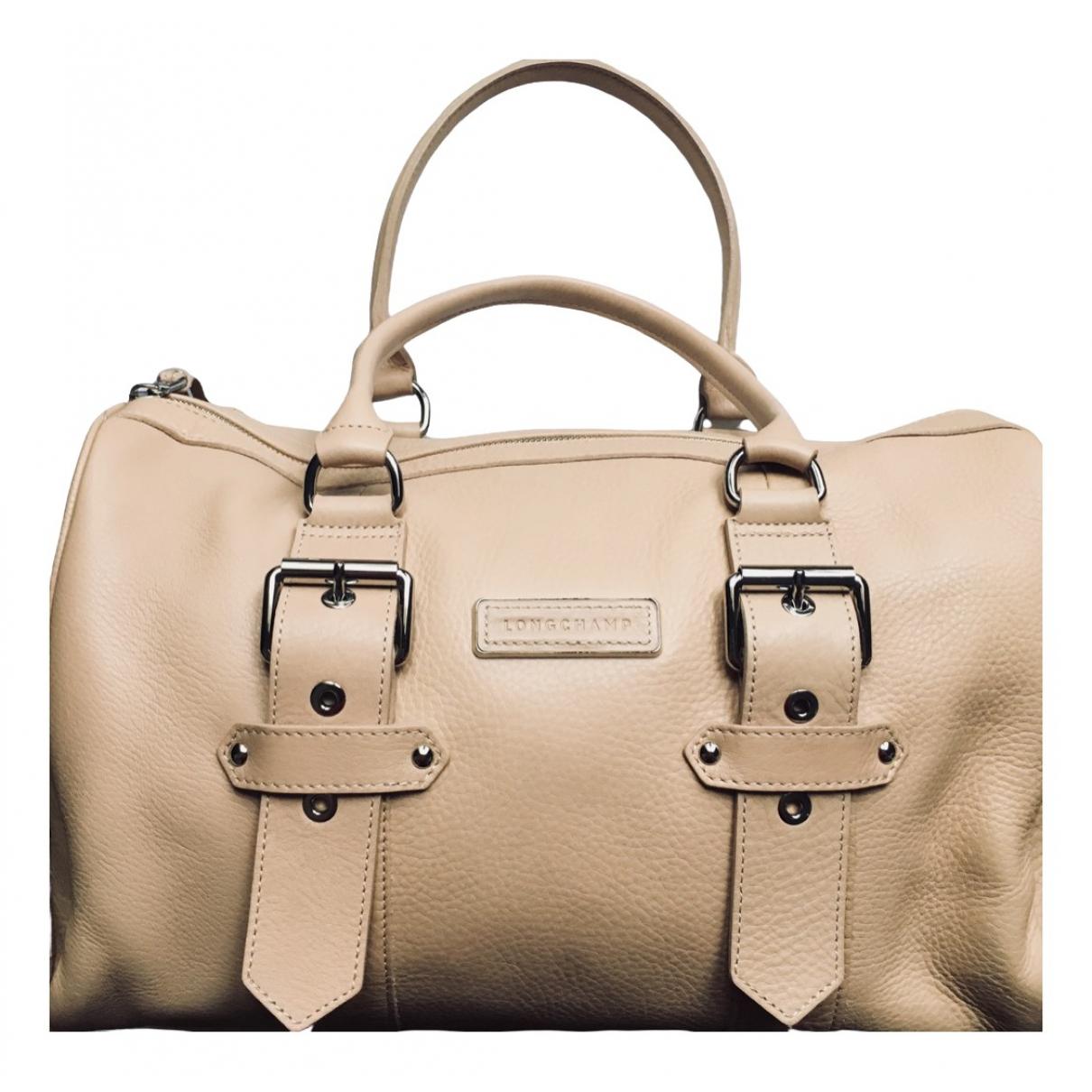 Longchamp Kate Moss Beige Leather handbag for Women \N