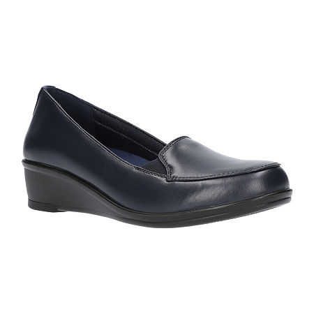 Easy Street Womens Velma Slip-On Shoe-Narrow Width, 8 1/2 Wide, Blue