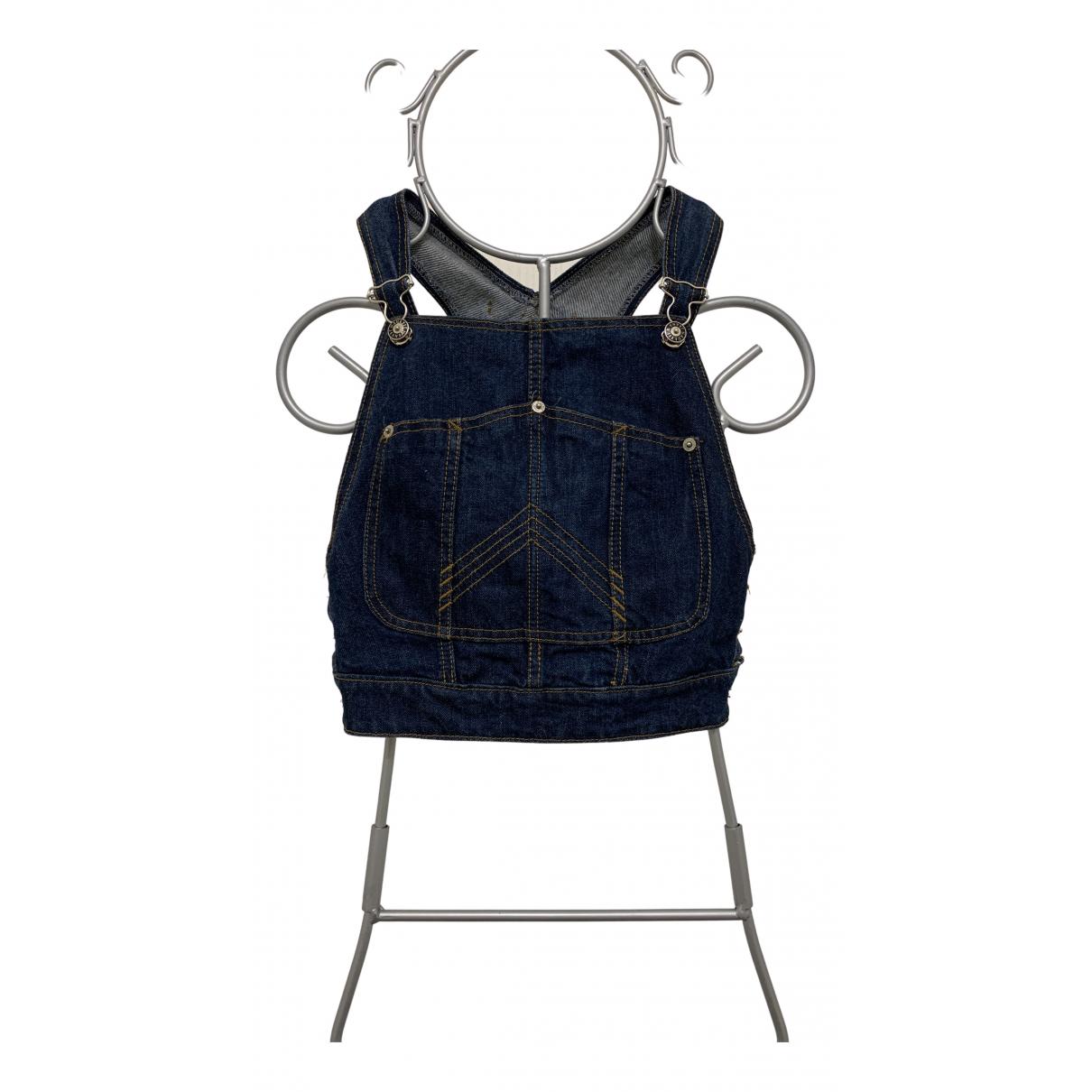 Jean Paul Gaultier - Top   pour femme en denim - bleu
