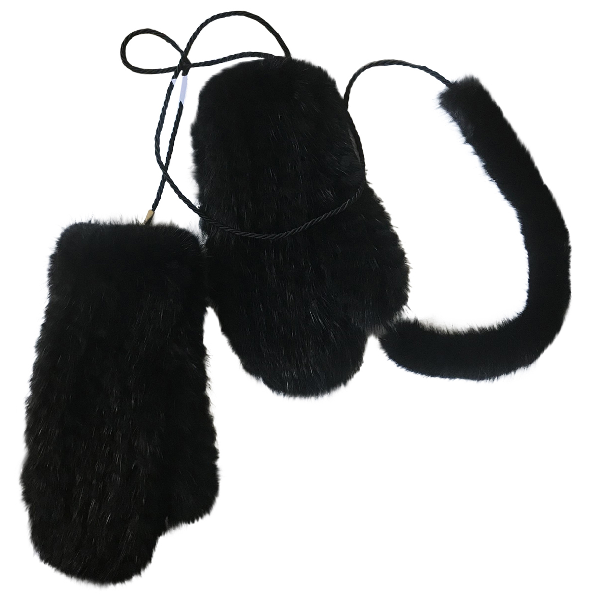 Max Mara N Black Mink Gloves for Women S International