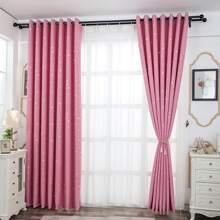 1pc Star Print Eyelet Curtain