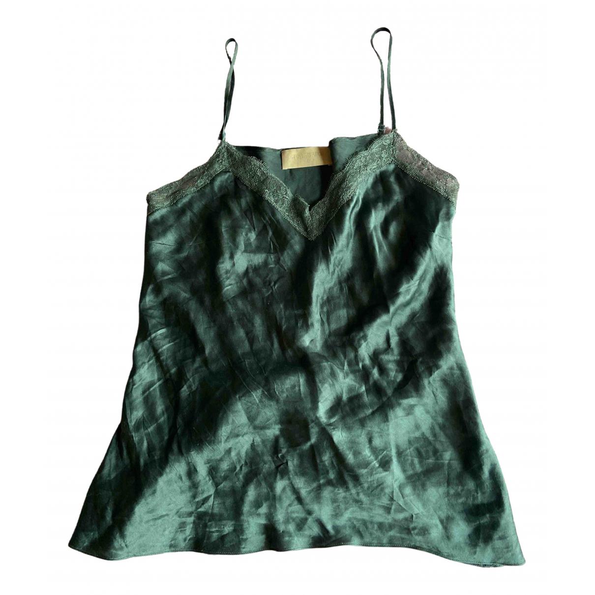 Georges Rech \N Green Silk  top for Women 36 FR