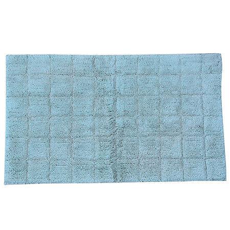 Castle Hill London Summer Tile Bath Rug Collection, One Size , Blue