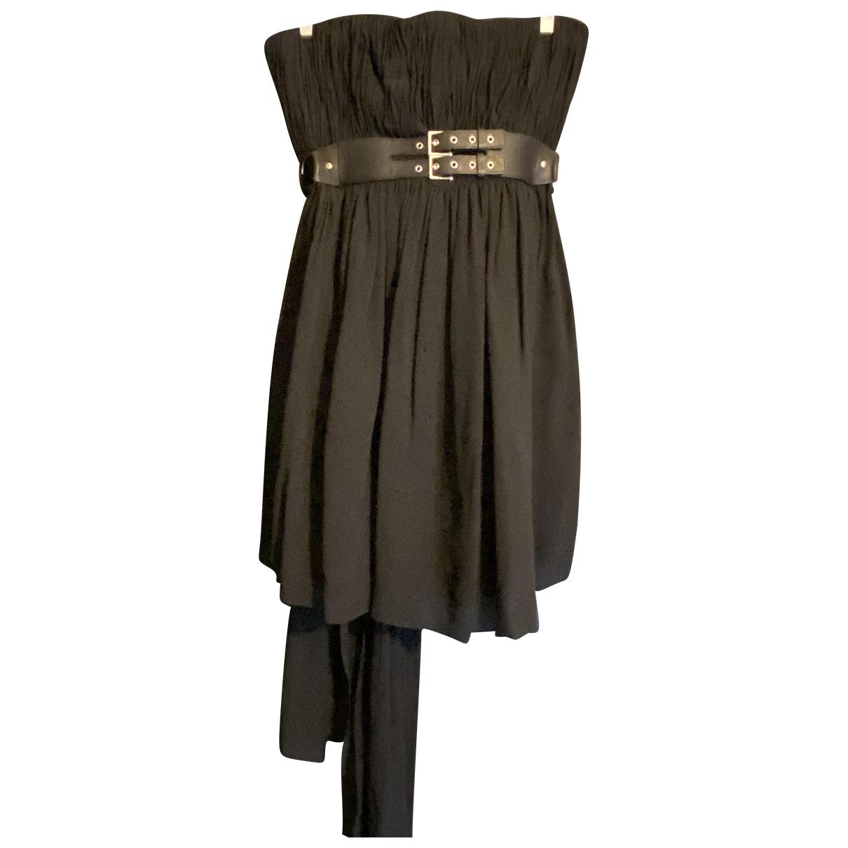 Saint Laurent N Black Silk dress for Women 40 FR