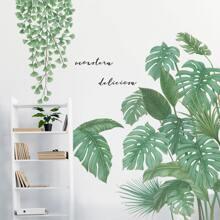 Wandaufkleber mit Pflanzen Muster