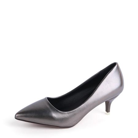 Yoins Silver Grey Point Toe Stiletto Heels