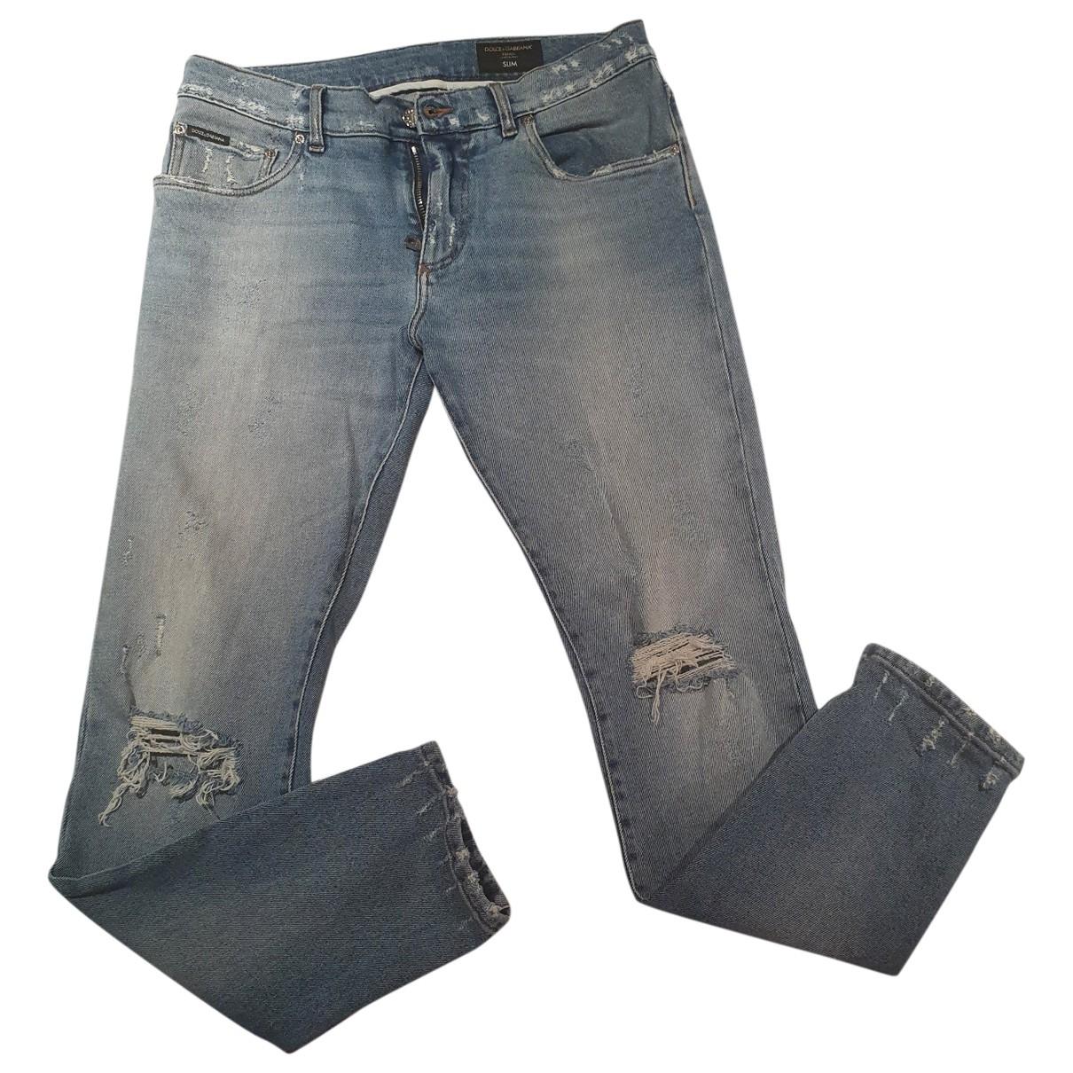 Dolce & Gabbana \N Blue Cotton Jeans for Men 38 FR