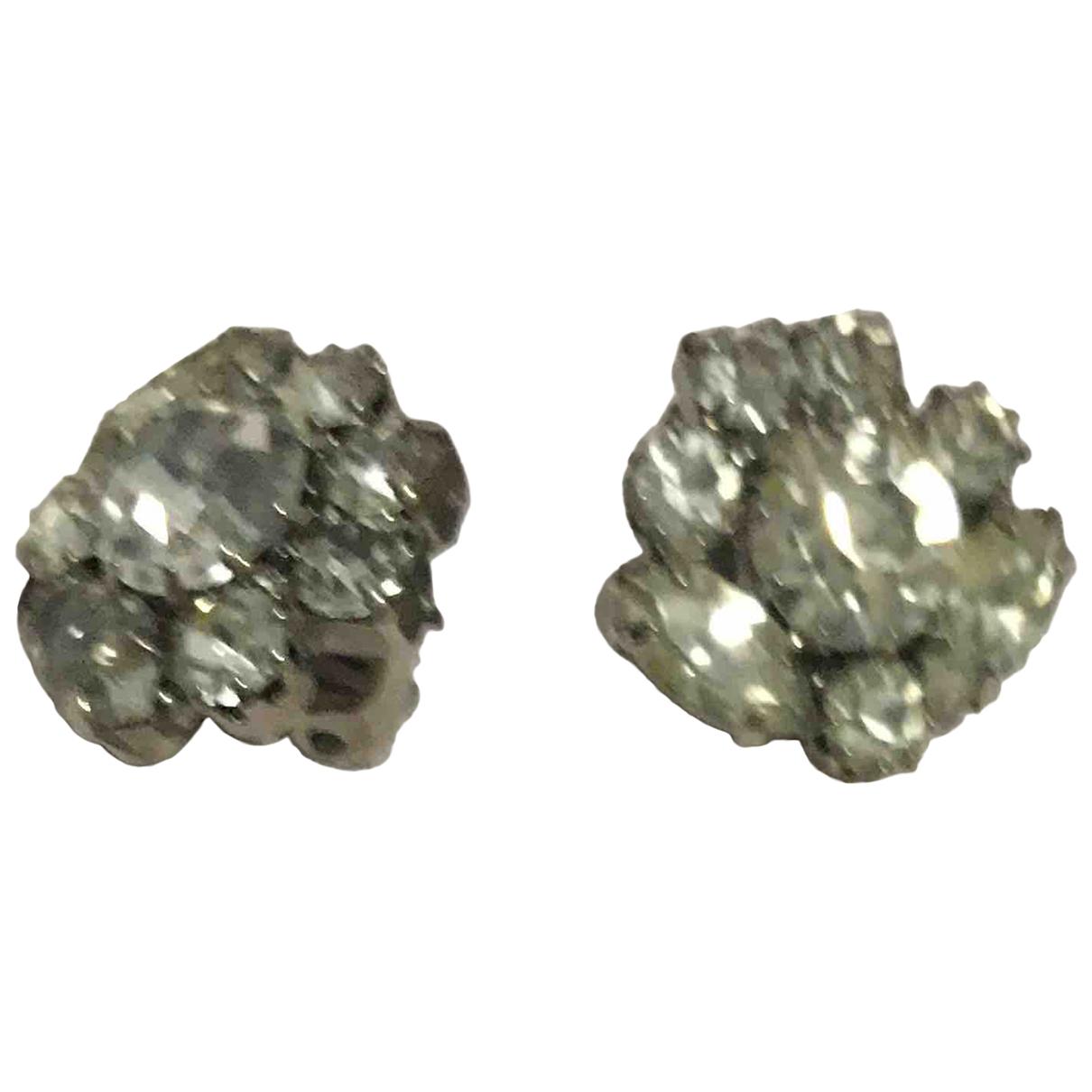 - Boucles doreilles Motifs Floraux pour femme en metal - argente