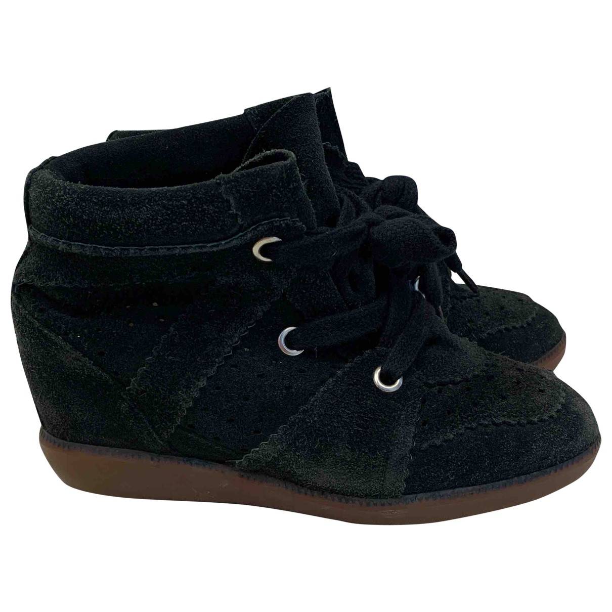 Isabel Marant Betty Black Suede Trainers for Women 35 EU