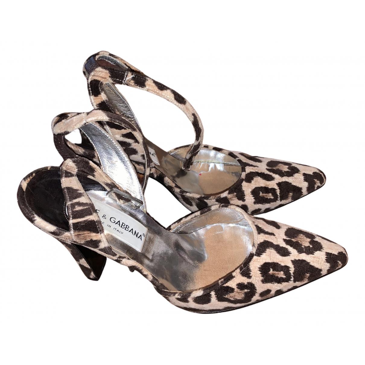 Dolce & Gabbana - Escarpins   pour femme en cuir - multicolore